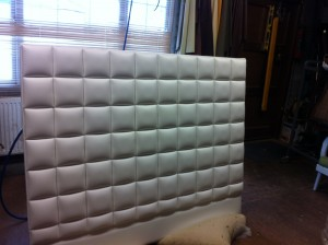 Our Cubed Headboard in Faux Leather