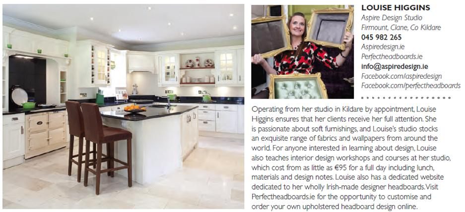 Louise Higgins Feature in house and Home Magazine Sept 2014
