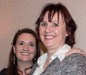 L-R Louise and Anita networking at the Interiors Association AGM