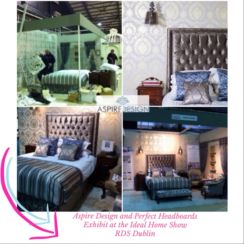 Aspire Design and Perfect Headboards exhibit at the Ideal Home Show, RDS
