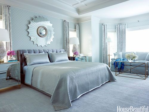 Interior Beautiful Blue Bedrooms monday blues not with these stunning blue bedrooms perfect from house beautiful