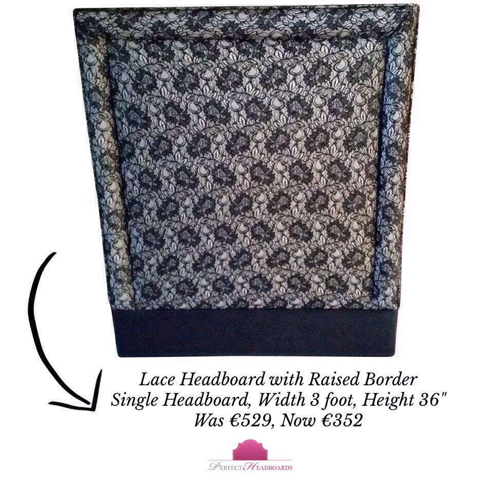 lace headboard with border