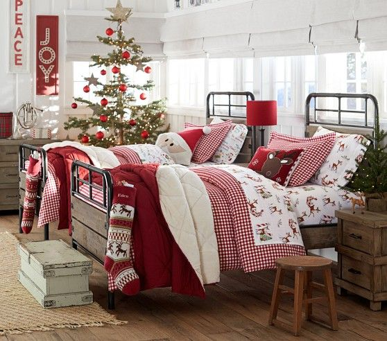 tips to decorate your bedroom from pottery barn kids theme bedding - How To Decorate Your Bedroom For Christmas