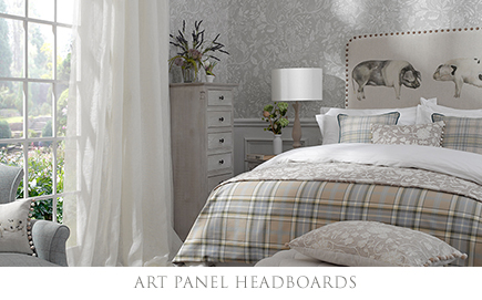 Kissing Pigs Art Panel Headboard