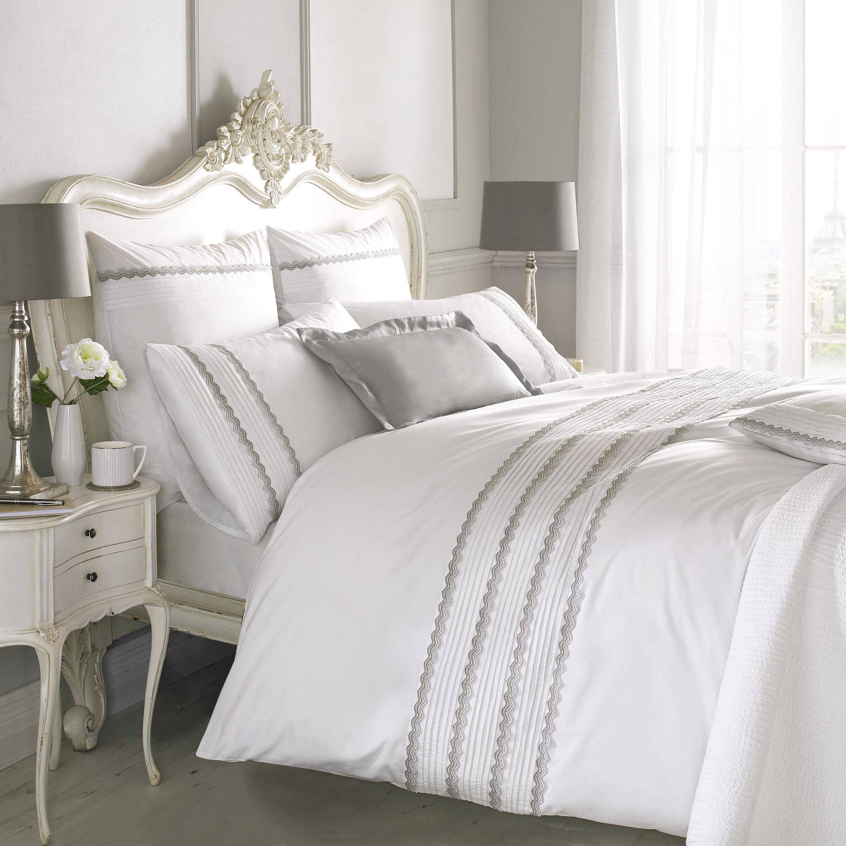 duvet white cover size border sheets norada hotel king set signature stripe cotton bed