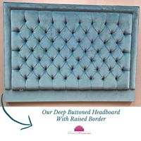 Deep Buttoned Headboard with Raised Border From Perfect Headboards