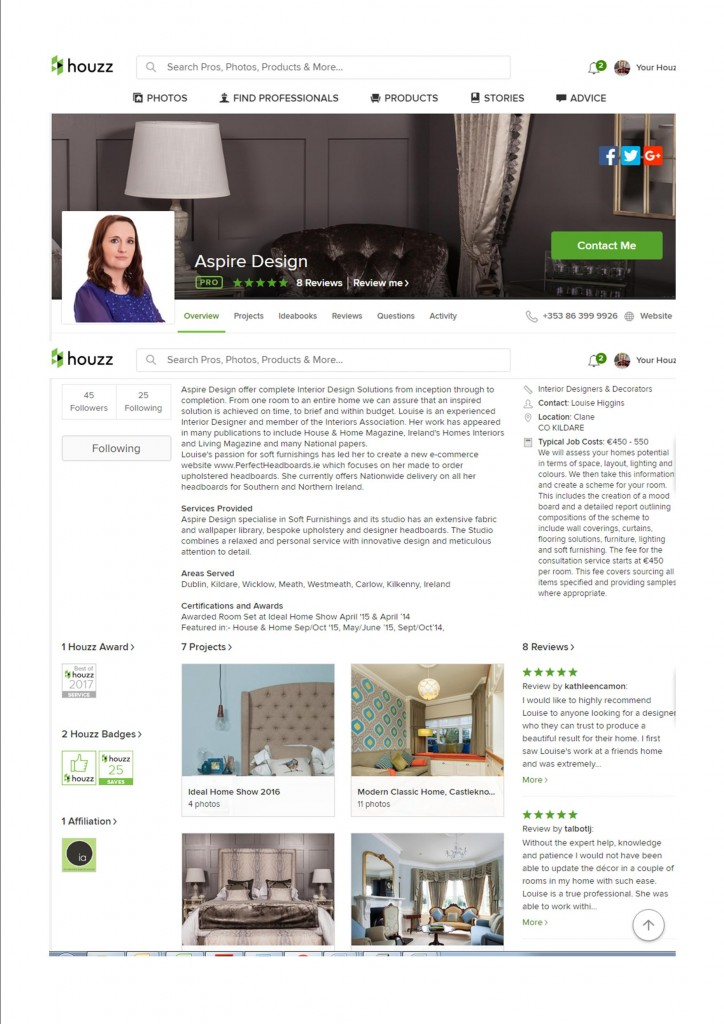 Houzz Profile of Aspire Design