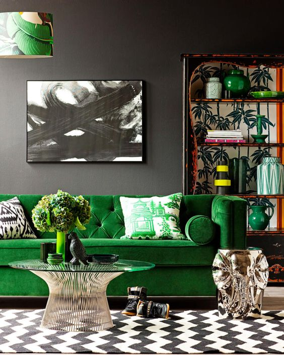 Green Living Room from Pinterest