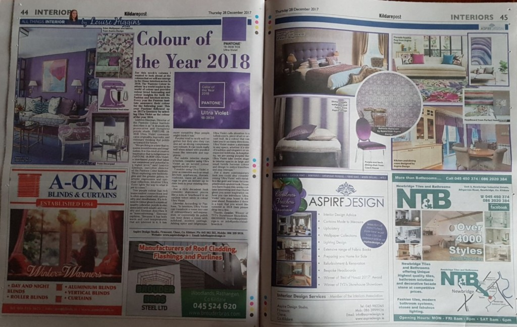 Interiors Column by Louise Higgins for the Kildare Post