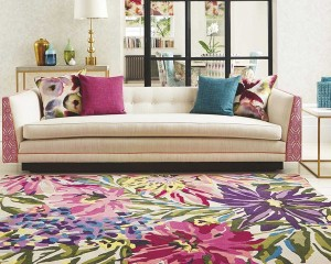 floreale Fuschia Rug from Aspire Design