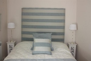 stripped headboard