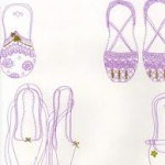 Twinkle Toes lilac, gold and white
