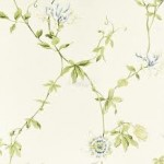 Sanderson Passion Flower Ivory/China Blue