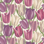 Sanderson Early Tulips purple and plum