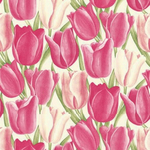 Sanderson Early Tulips pinks and white