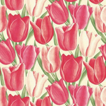Sanderson Early Tulips shades of red