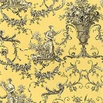 Thibaut Biltmore Black on Yellow
