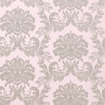 Thibaut Symphony Metalic Silver on lilac