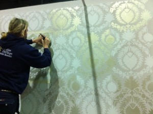 stencilling the wall 2